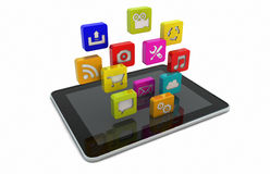 Tablet apps Royalty Free Stock Images