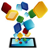 Tablet Apps Stock Image