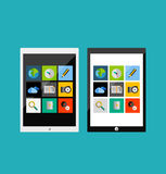 Tablet apps responsive flat ui design Royalty Free Stock Image