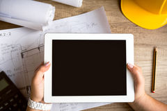 Tablet architecture equipment Stock Photos
