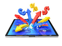 Tablet arrows Stock Images