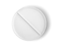 Tablet aspirin isolated Path Royalty Free Stock Image