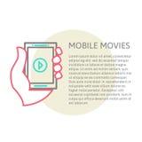 Tablet auf der Hand mit Video-Player Lizenzfreies Stockfoto