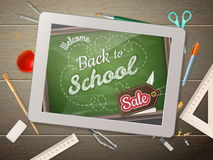 Tablet back to school Sale.  Stock Images