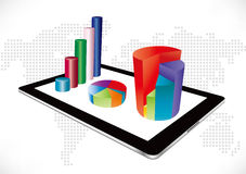 Tablet bar chart Stock Photo