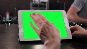 Tablet on the bar stock video