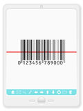Tablet with barcode Royalty Free Stock Image