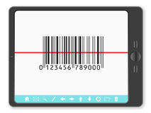 Tablet with barcode Royalty Free Stock Images