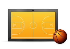 Tablet basketball Stock Photography