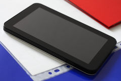 Tablet black. Close up of black tablet computer Royalty Free Stock Image