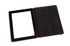 Tablet in black carrying case Royalty Free Stock Images