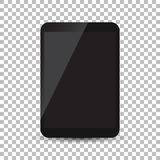 Tablet with black screen flat icon. Computer vector illustration Royalty Free Stock Images