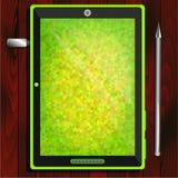 Tablet, Blitz-Antrieb, sperren auf dem Tisch ein Stockbild