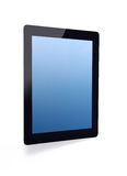Tablet with blue screen Royalty Free Stock Image
