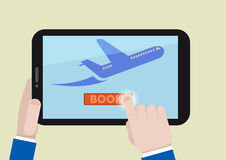 Tablet book flight Royalty Free Stock Photography