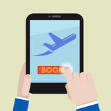 Tablet book flight Royalty Free Stock Image