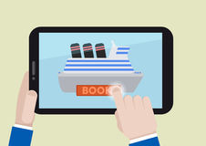 Tablet book ship Royalty Free Stock Photo
