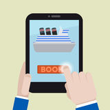 Tablet book ship Royalty Free Stock Photography