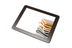 Tablet with book. Stock Images