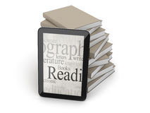 Tablet and books Royalty Free Stock Images