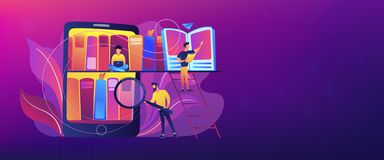 E-library header or footer banner. royalty free illustration