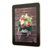 Tablet - bouquet of flowers Royalty Free Stock Photo