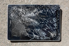 Tablet with broken display Royalty Free Stock Photos