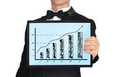 Tablet with business chart Royalty Free Stock Photo