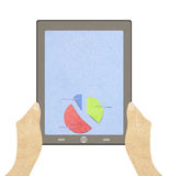 Tablet  with business concept Stock Photos