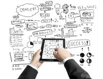 Tablet and business concept Stock Image