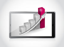 Tablet and business graph illustration design Royalty Free Stock Images