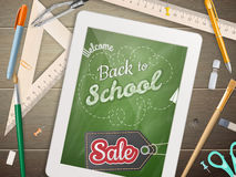 Tablet with a chalkboard. EPS 10 Stock Images