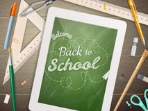 Tablet with a chalkboard. EPS 10 Royalty Free Stock Images