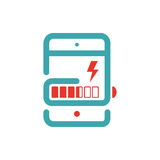 Tablet charging vector ilustration. Royalty Free Stock Image