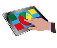 Tablet and chart Royalty Free Stock Image