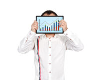Tablet with chart Royalty Free Stock Images