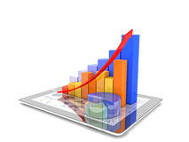 Tablet and chart Stock Photography