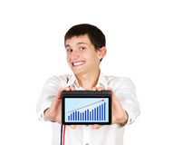 Tablet with chart Stock Photography
