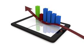 Tablet and charts Stock Image
