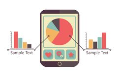 Tablet with charts Stock Photos