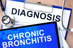 Tablet with Chronic bronchitis Stock Photography