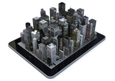 Tablet city Stock Photos