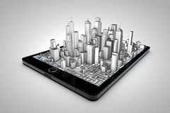 Tablet city Stock Image