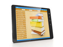 Tablet closeup eReader books Royalty Free Stock Photography