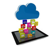 Tablet cloud Stock Photos