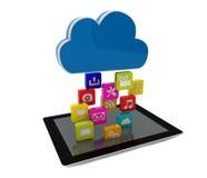 Tablet cloud Stock Photos