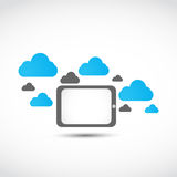 Tablet cloud computing concept Royalty Free Stock Image