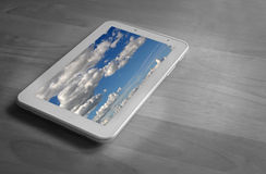 Tablet clouds stock images
