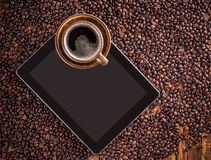 Tablet and coffee Stock Photography