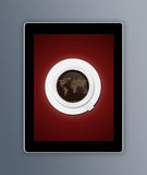 Tablet coffee Royalty Free Stock Photo